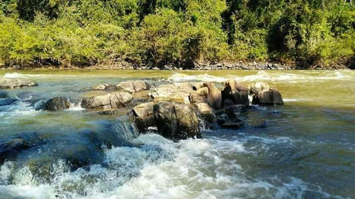 Chácara / rancho fundos para rio sorocaba com piscna